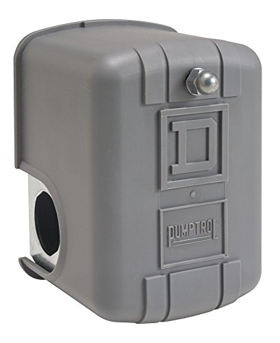 Square D by Schneider Electric 9013FHG42J59X Air-Compressor Pressure Switch, 175 psi Set Off, 40 psi Fixed Differential, 1/4