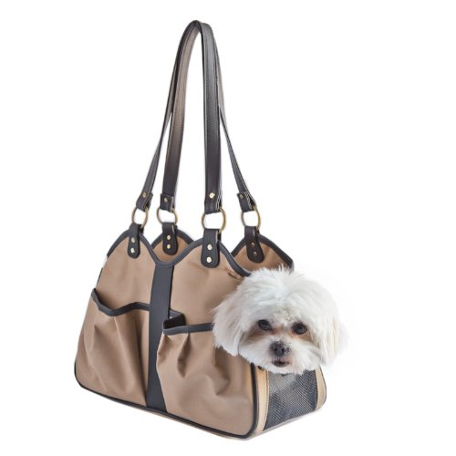 Petote Metro Classic Dog Carrier, Tan, Small
