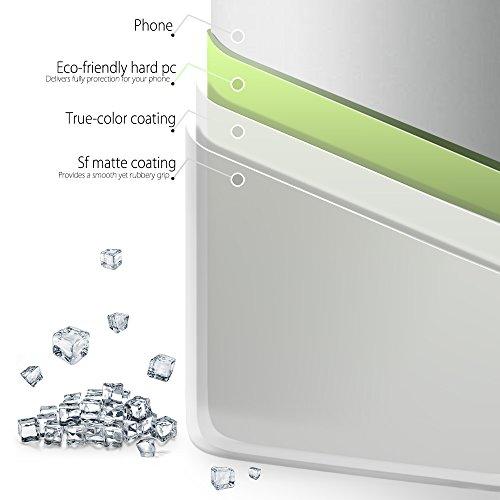 SLEO Funda para Samsung Galaxy S8 PC Back Cover de Parachoques Duro Cubierta Protectora para Samsung Galaxy S8 - Rojo Blanco