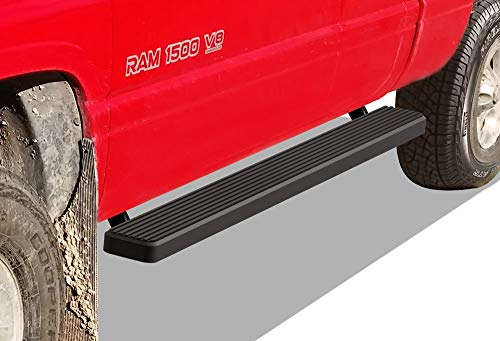 99 Dodge Ram Club Cab - APS iBoard Running Boards (Nerf Bars | Side Steps | Step Bars) for 1994-2001 Dodge Ram 1500 Club Cab & 1994-2002 Ram 2500/3500 (Excl. 02 Body Style Sold in 2001) | (Black Powder Coated 5 inches)