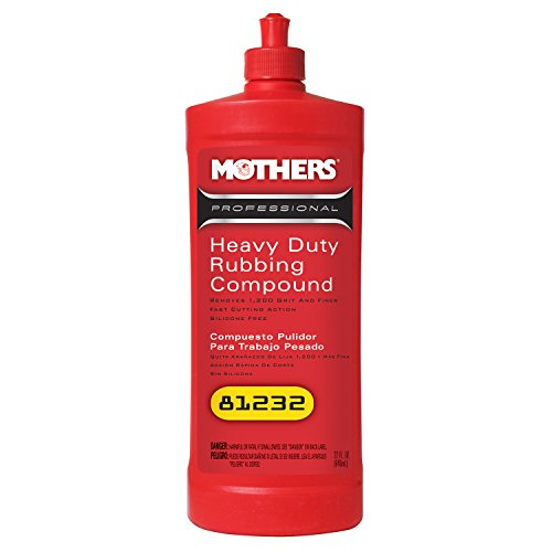 Mothers 81232-6 Professional Heavy Duty Rubbing Compound - 32 oz., (Pack of 6) by Mothers