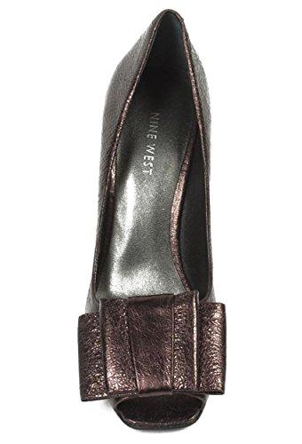 NINE WEST - Zapatos De Tacón Mujer - Pump Punta Abierta NWSARNO BRONZE Tacón: 9.5 cm