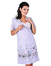 Zeta Ville - Womens Maternity Nursing Nightdress Breastfeeding Nightie - 140c