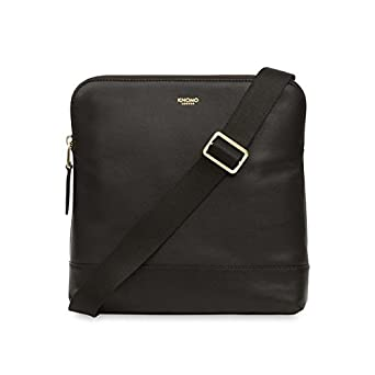 """438ae5a32e Image Unavailable. Image not available for. Color: KNOMO Mayfair Luxe  Woodstock 8"""" Cross Body 8"""" - BLACK"""