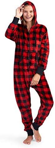 Little Blue House by Hatley Unisex-Child Hooded Fleece Jumpsuit Pajama Set