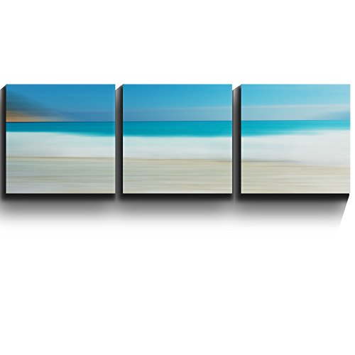 3 Square Panels Contemporary Art Beach and Surf Abstract Landscape Three Gallery ped Printed Piece x3 Panels