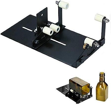 Cortador Botellas Máquina Notación Vidrio Botella Vidrio Ovalado Cuadrado Corte Redondo Vino Cerveza Alcohol Whisky Champagne Copa Vidrio Kit Hherramientas Lámpara Creativa