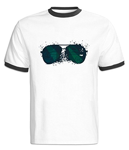 YUANXUAN Sunglasses Contrast Color T-Shirt For Mens M - Sunglasses Reynolds