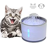 LED Luminous Pet Drinking Fountain, Dokfin Automatic 2.4L Water Dispenser with Purified Fresh