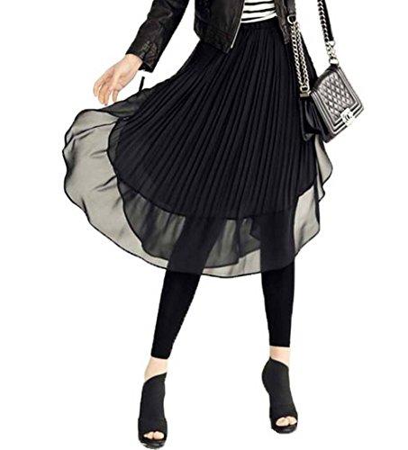 会う感情謙虚COMVIP 切り替え キュロットスカート スリム レギンス 純色 シフォンスカート スパンツ 柔らかい レディース ファッション ダンス用