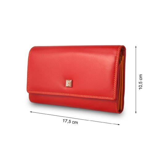 Collection Dudu Dudu Color Wallet Wallet Devon leather Red Colorful FXxqf