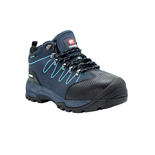 (TRUGARD Work Boots for Men Steel Toe Electrical Hazard Puncture Resistant Waterproof Slip Resistant Navy Blue)