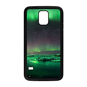 Aurora Borealis Series, Samsung Galaxy S5 Cases, Green Aurora Cases For Samsung Galaxy S5 [Black]