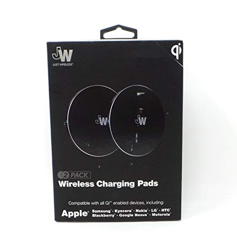 Just Wireless 2 Pack 5W QI Certified Wireless Charging Pads Universal 13422 Black