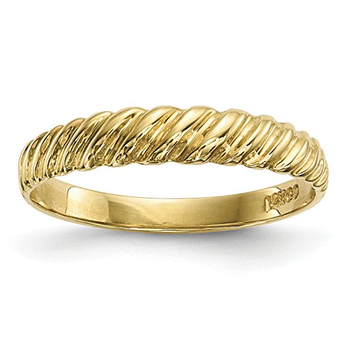 ICE CARATS 14k Yellow Gold Kids Twist Band Ring Size 4.50 Baby Fine Jewelry Gift Set For Women Heart
