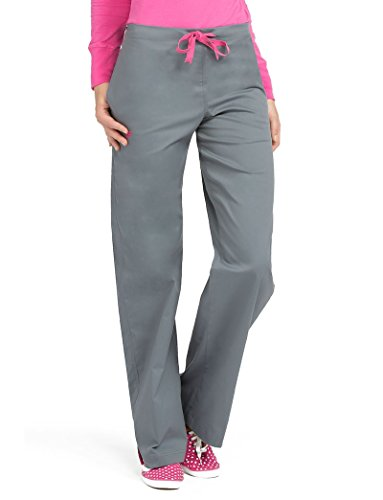 Med Couture Women's Drawstring Scrub Pant Small Steel/Cotton Candy (Candy Couture)
