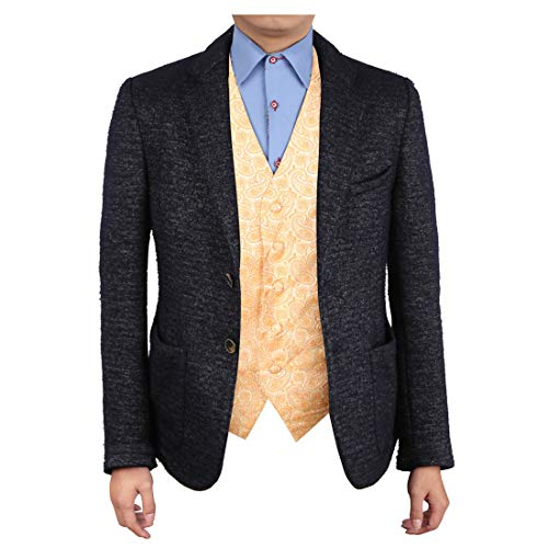 - Epoint EGC1B04D-2XL Orange Patterned Adults Day Gift Waistcoat Woven Microfiber Vests For Meeting XX-Large Vest
