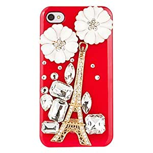 Mini - The Eiffel Tower and Pumpkin Flowers Pattern Jewelry Case for iPhone 4/4S