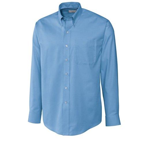 Cutter & Buck Men's Big-Tall Long Sleeve Epic Easy Care Nailshead Shirt, Atlas, (Nailshead Woven Shirt)