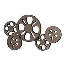 Benzara Metal Movie Reel Elegant Accessory for Studio
