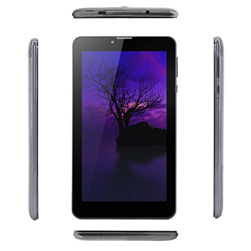 Tablet Android 7 Inch with Sim Card Slots 1GB RAM 8GB ROM MTK8321 Cortex A7 Quad-core 1.3Ghz IPS Screen 600×1024 Dual Camera 3G Unlocked GSM Phone Tablet PC with WiFi,GPS - Grey by Winsing (Image #1)