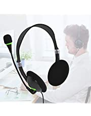 Computer Headset With Microphone, USB Headset With Microphone Noise Cancelling & Audio Controls, Stereo Headphones, Adjustable Comfortable Earphone Headphones