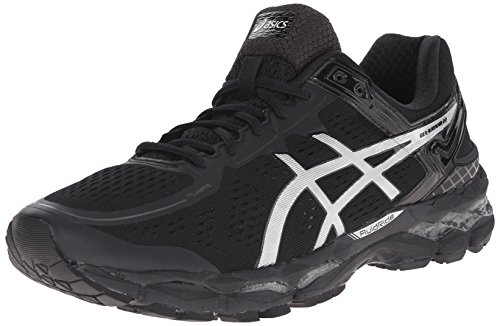 ASICS Men's Gel Kayano 22 Running Shoe, Onyx/Silver/Charcoal, 9 M US