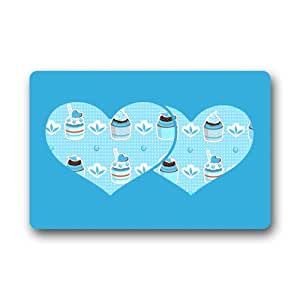 Special Offer Brand New Floor Mat Customized Two Hearts with Ice Cream Cakes Doormat
