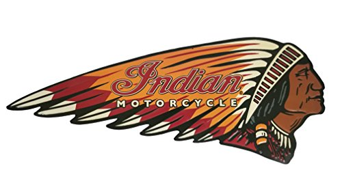 Everydecor Indian Motorcycle Embossed Die Cut Tin Sign