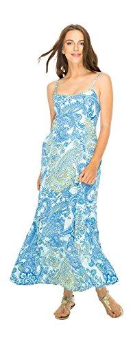 Dress Maxi Flirty Blue Large