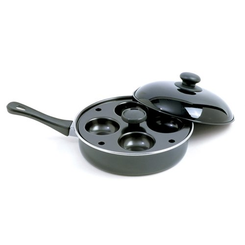 Norpro 9.5 Inch Nonstick Egg Poacher Skillet Set with Removable 4 Egg Poacher