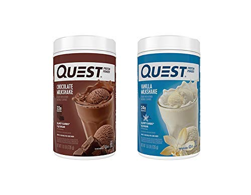 Quest Protein Powder 2-Pack: 1.6 Pound Vanilla and Chocolate Bundle