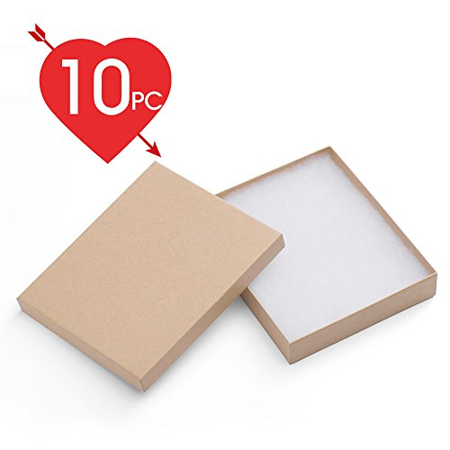 MESHA Cardboard Paper Box for Jewelry and Gift 6x5x1 Inch Th