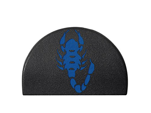 Jentra JP1 Grip Plug for Glock 17, 19, 20, 21, 22, 23, 24, 31, 32, 34, 35 Gen 1-3 Laser Engraved & Hand Painted Dark Blue Image: Scorpion (Replacement Scorpion 22)