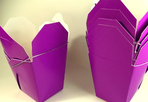 Purple Chinese Take-out (Favor) Boxes - 100 Count