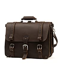 Saddleback Leather Classic Briefcase - The Original, 100% Full Grain Leather, Saddleback Executive Briefcase Bag. Converts into Backpack.