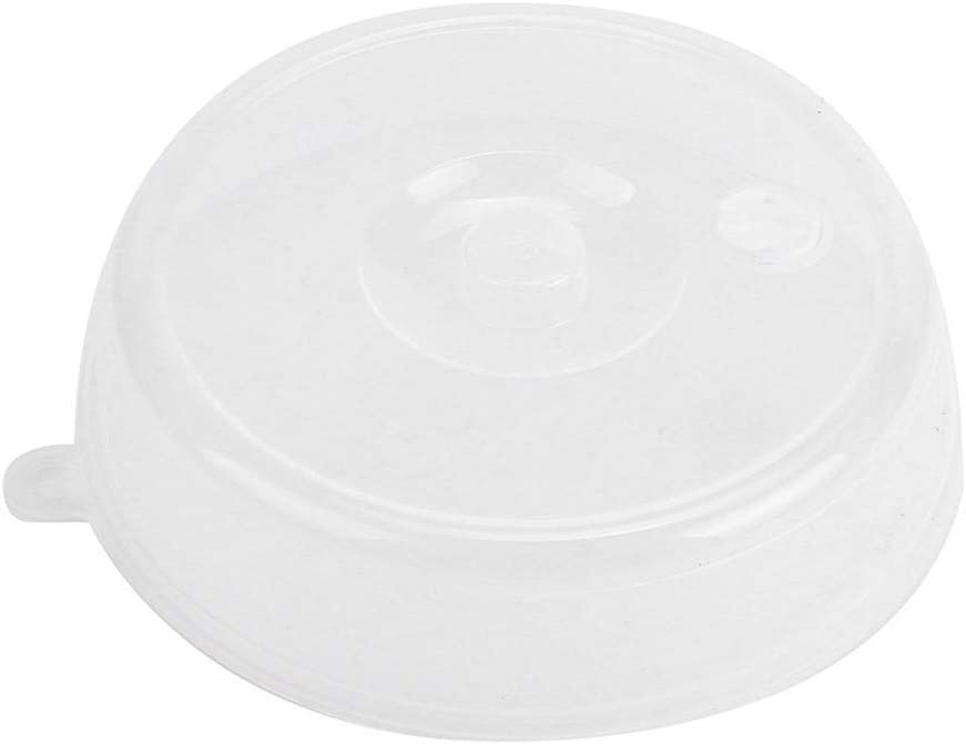 6.7 Inch 9Inch 2PCS Microwave Splatter Cover PP Plastic Plate Guard Lid with Steam Vent Refrigerator Dining-Table S+M