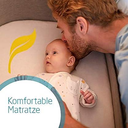 Maxi-Cosi Iora-Beistellbett mit weicher Matratze, Reisebett einfach zusammenfaltbar und höhenverstellbar, geeignet ab der Geburt, 0 Monate - 9 kg, Essential Grey (grau) 3