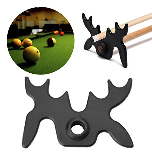 10 Cue Floor Stand - Cicitop Plastic Snooker Billiard Cue Rack, Pool Bridge Head Cross Holder, Fashion Design.