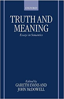 Book Truth and Meaning: Essays in Semantics