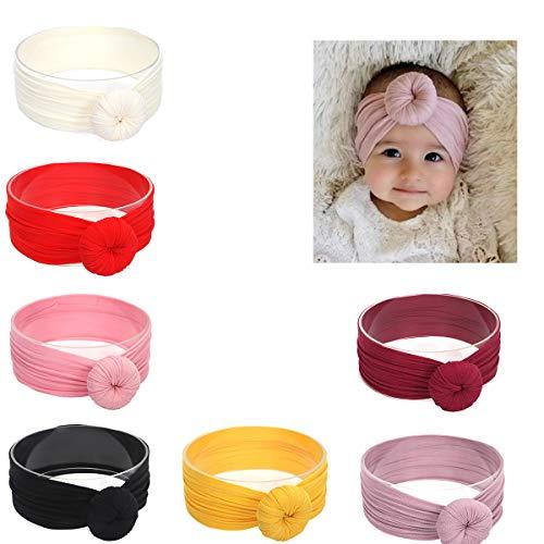 431ec492269 Udobuy 7 Pcs Headband Updated Version Baby Hat- Newborn Baby Girl Soft Cute Turban  Knot Rabbit Hospital Hat
