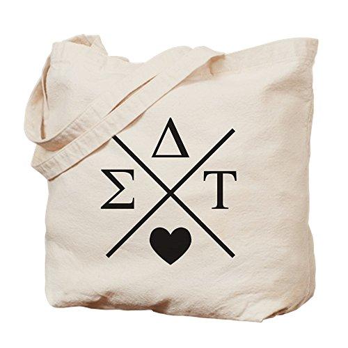 CafePress–Sigma Delta Tau Cruz–Gamuza de bolsa de lona bolsa, bolsa de la compra
