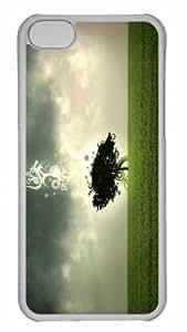 Personalizado para iPhone 5C PC transparente–árbol diseño personalizado funda