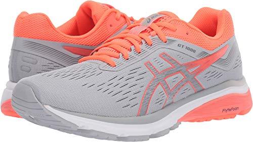 Women's Running Shoe, Mid Grey/Flash Coral, 8 M US ()