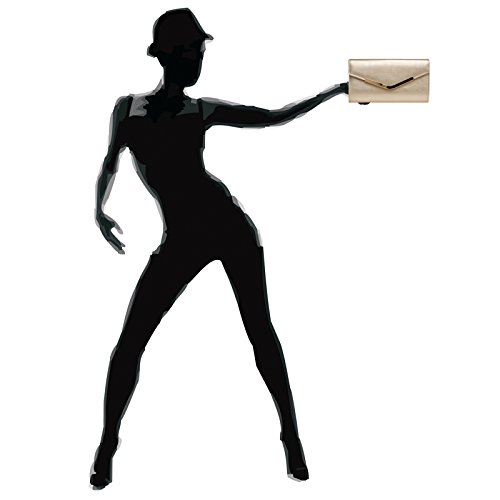 CASPAR Fashion - Cartera de mano para mujer champán