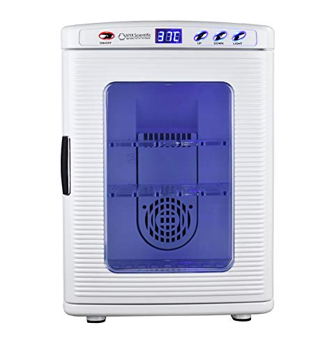 IVYX Scientific Lab Incubator, Cooling and Heating 2-60°C, 12V/110V, 60W, 25L/0.88 cu. ft. Capacity (white)