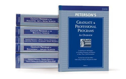 Graduate Guide Set (6vols) 2008 (PETERSON'S GRADUATE & PROFESSIONAL PROGRAMS)