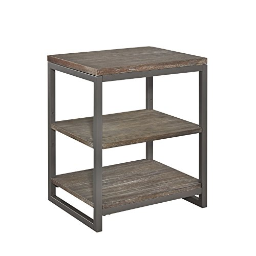 Home Styles 5053-42 Barnside Metro Metal 3 Tier Storage Shelf/Night (Metro Metal Desk)
