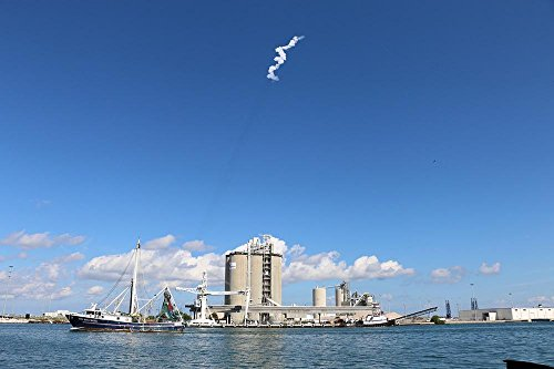 Laminated 36X24 Inches Poster  Boat Spacex Launch Cape Canaveral Florida Nasa Sky Cape Canaveral Kennedy Science