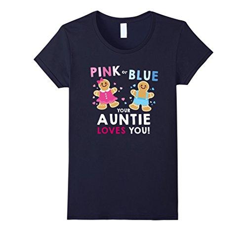 Womens Christmas Baby Shower Gender Reveal Shirt for Futu...